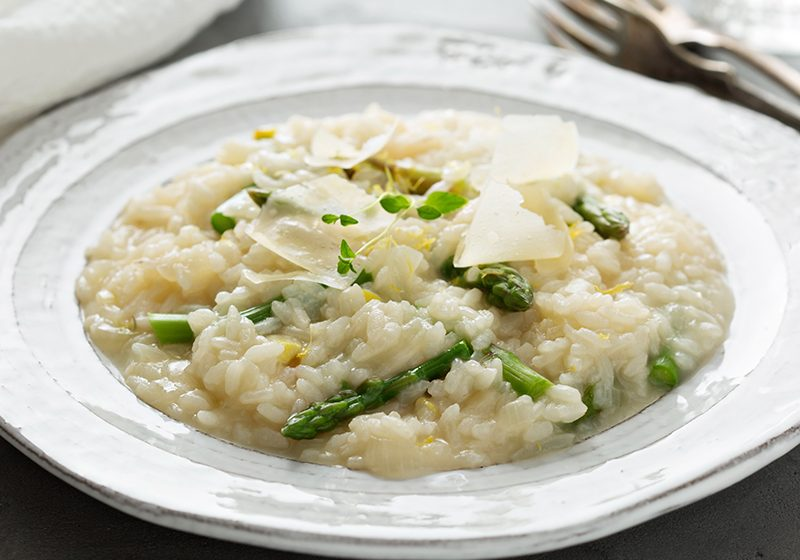 chicken asparagus risotto