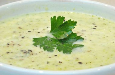 Leek, Broccoli and Stilton Cheese Soup