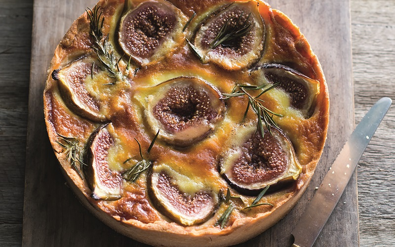 Fig, Brie and Rosemary Tart