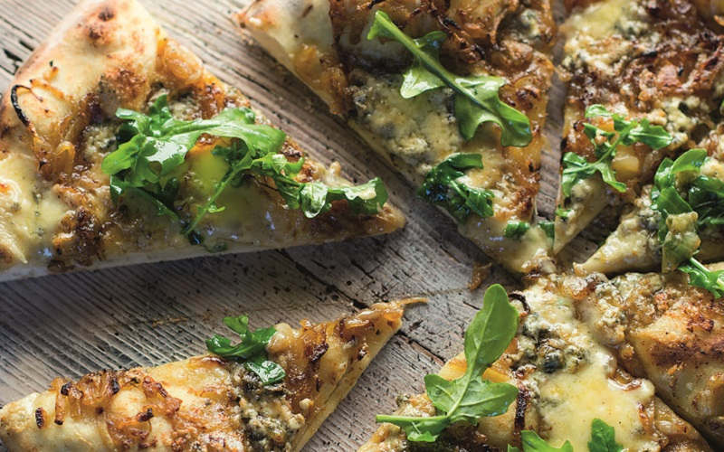 Blue Cheese and Sweet Onion Pizza