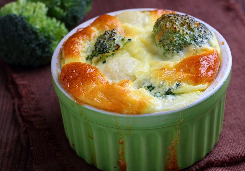 Gorgonzola and Broccoli Souffle