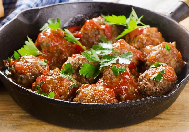 Meatballs with Berkswell
