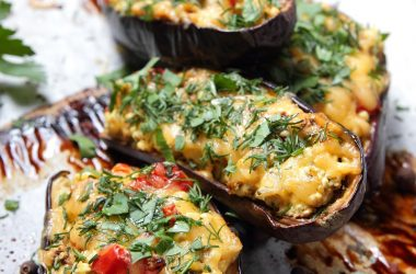 Pecorino Stuffed Aubergines