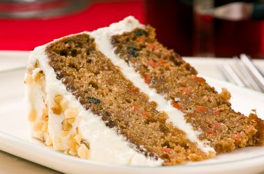 Walnut, pineapple and carrot cake
