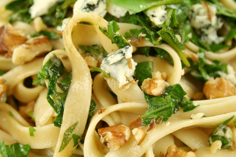 Crozier and Spinach Fettucini