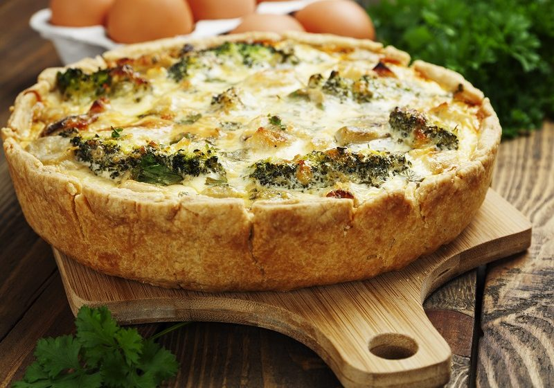 Broccoli and Gorgonzola Quiche