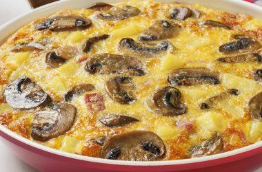 Le Gruyere, Bacon and Mushroom Frittatas