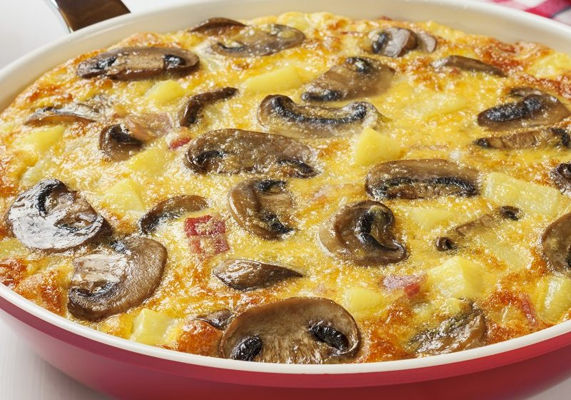 Le Gruyere, Bacon and Mushroom Frittata