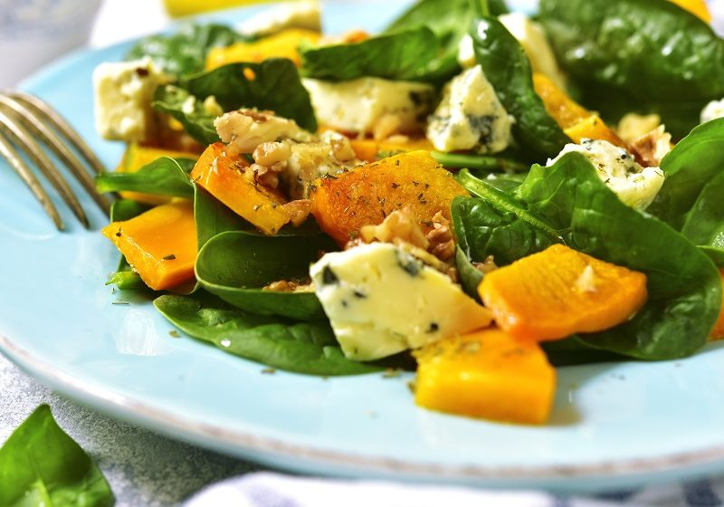 Pumpkin and Roquefort Salad