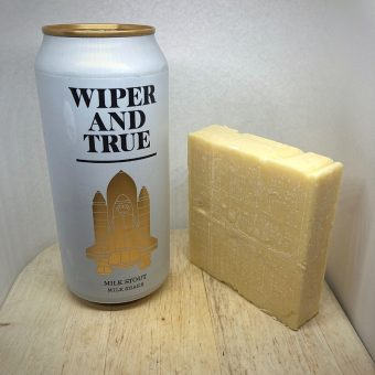 Wiper and True Milk Stout and Alex James Cheddar No1