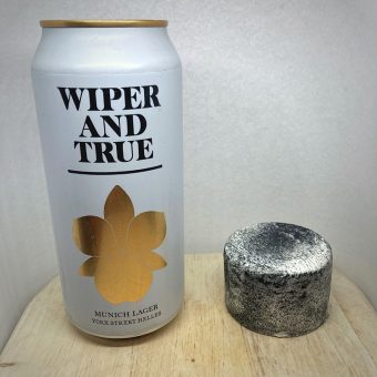 Wiper and True Munich Lager and Alex James Goat's Cheese
